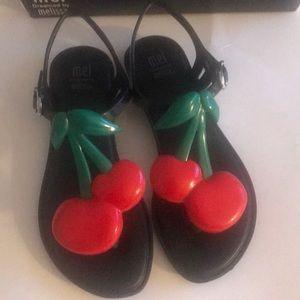 MEL/ Mini Melissa cherry sandals